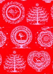 Lapland Red Christmas Tissue Paper - 10 Sheets