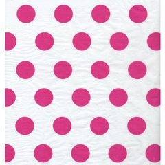 Raspberry Pink Polka Dot Tissue Paper - Ten Sheets