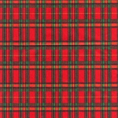 Red Tartan Plaid Heavy Gift Wrap - 100 Ft Roll