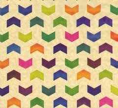 Painted Chevrons Tissue Paper - Ten Sheets
