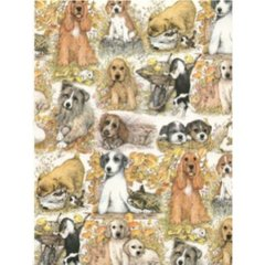 Puppy Dogs Gift Wrapping Paper - 6 Ft Sheet