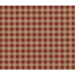 Red Gingham on Kraft Gift Wrapping - 30 In x 30 Ft Roll