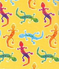 Geckos On Yellow Tissue Paper - Twenty Large Sheets