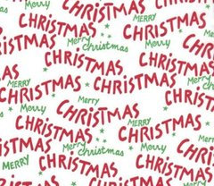Merry Christmas Script Tissue Paper - 10 Sheets