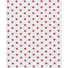 Little Red Valentine Hearts Tissue Paper - Ten Sheets
