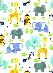 Zoo Animals Baby Gift Wrapping - 6 Ft Sheet