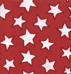 Red Stars Tissue Paper - 20 Large Sheets