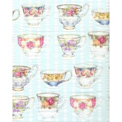 Old English Tea Cups Tissue Paper - Ten Sheets