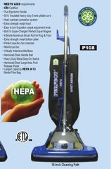 """Perfect P108 16"""" HEPA Upright Quiet Series Vacuum Cleaner, P108"""
