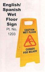 English/Spanish Wet Floor Sign - 5 Pack