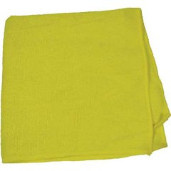 """Perfect Products Microfiber Cloths 16""""x16 """", Yellow 200/Pack - Pkg Qty 200"""