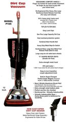 Perfect P105 Commercial Upright Dirt Cup Vacuum