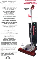 "Perfect P104 16"" HEPA Commercial Upright Vacuum"