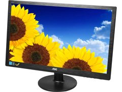 "AOC E2260SWDN Black 21.5"" 5ms Widescreen LCD/LED Monitor, 200 cd/m2 20,000,000:1, VESA Mountable, Embedded Screen+ Software, Ultra Low Power Consumption, D-Sub, DVI"