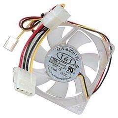 """3"""" x 3"""" (80mm) T&T MW-825H12B Case Fan w/3-Pin & 4-Pin Connectors"""