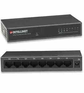 Intellinet 10/100 8 Port Switch Desk Metal