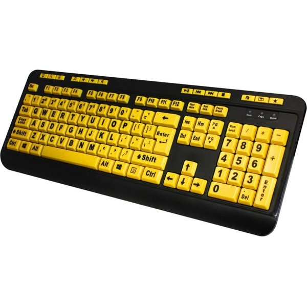 Adesso AKB-132UY EasyTouch 132 - Florescent Yellow Multimedia Desktop Keyboard