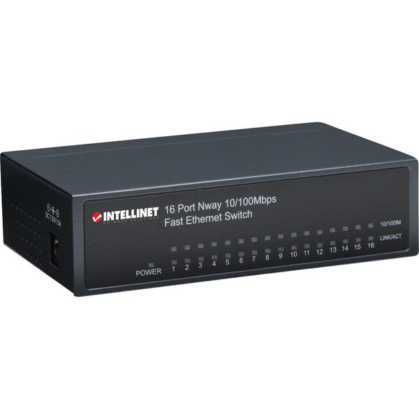 INTELLINET 522595 Desktop Ethernet Switch (16 port)