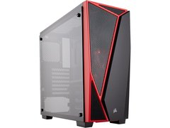 Corsair Carbide Series SPEC-04 CC-9011117-WW Black / Red Tempered glass ATX Mid Tower Computer Case