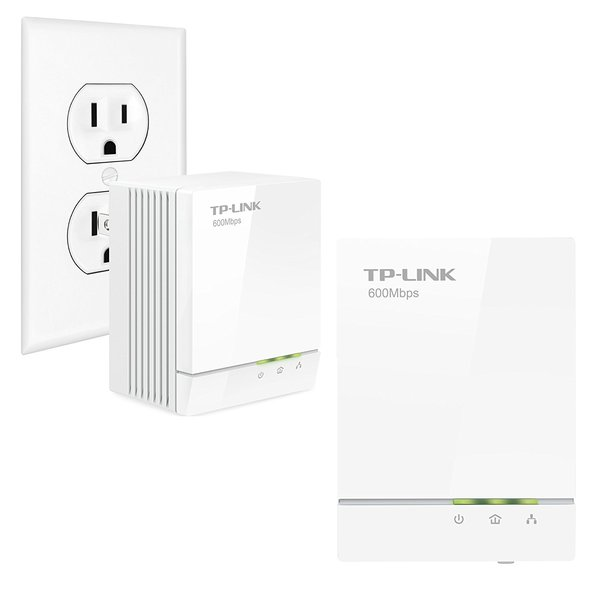 TP-Link AV600 Powerline Adapter Starter Kit, Up to 600Mbps, Gigabit Ports, Plug and Play, Power Saving Mode (TL-PA6010KIT)