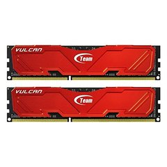 Team Vulcan 16GB (2 x 8GB) 240-Pin DDR3 SDRAM DDR3 1600 (PC3 12800) Desktop Memory Model TLRED316G1600HC9DC01