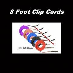 Purple, Red & Blue SILICONE CLIP CORD 8ft
