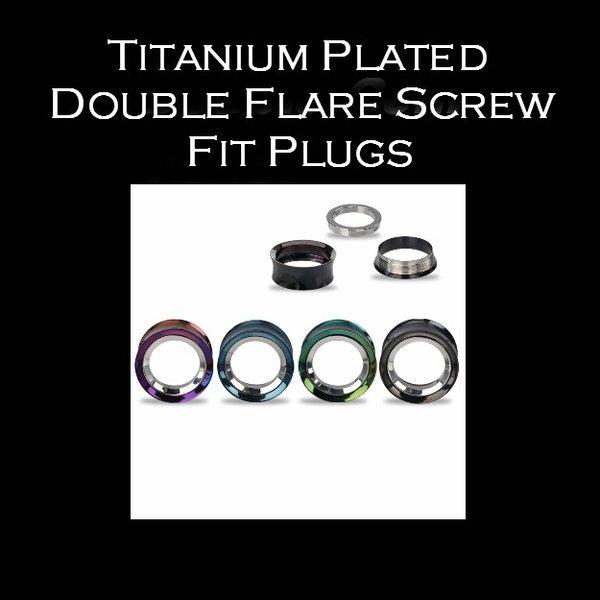 Titanium Plated Double Flare Screw Fit Plugs