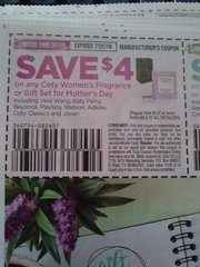 10 Coupons $4/1 Coty Women's Fragrance or Gift Set for Mother's Day Exp.7/31/18