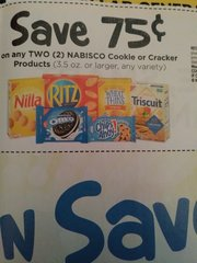 10 Coupons $.75/2 Nabisco Cookie or Cracker Products (3.5oz+) Exp.6/20/18