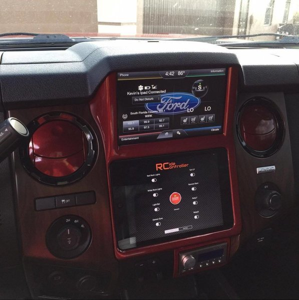 Retro Customz 2013 2016 Ford F250 350 450 Ipad In Dash Kit
