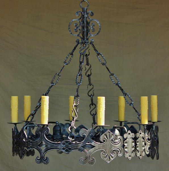 1310 8 spanish chandelier spanish revival lighting 1310 8 spanish chandelier mozeypictures Choice Image