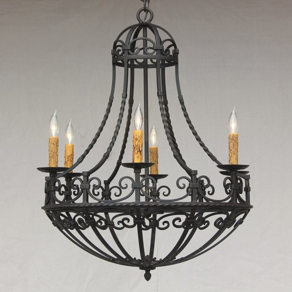 1265 6 spanish revival spanish colonial chandelier for Spanish revival lighting fixtures