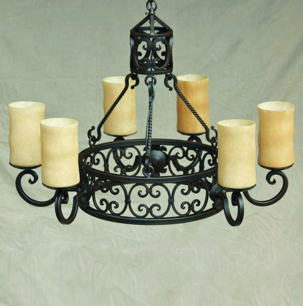 1276 6 spanish chandelier spanish revival lighting 1276 6 spanish chandelier mozeypictures Choice Image