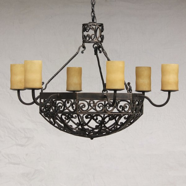 1146 6 spanish revival hand forged wrought iron chandelier spanish 1146 6 spanish revival hand forged wrought iron chandelier aloadofball Images