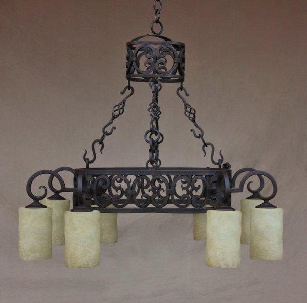 1287 8 spanish chandelier spanish revival lighting 1287 8 spanish chandelier mozeypictures Choice Image