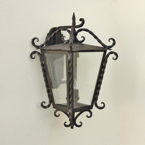 7239 3 spanish colonial outdoor exterior wall lantern for Spanish revival lighting fixtures