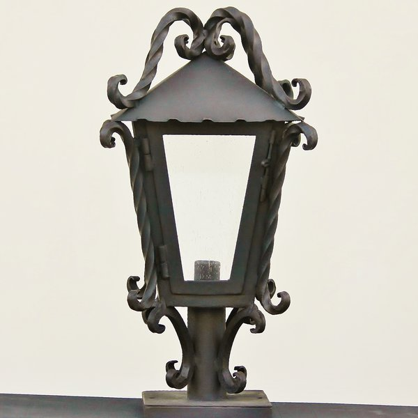 7251 1 spanish outdoor post light fixture spanish for Spanish revival lighting fixtures