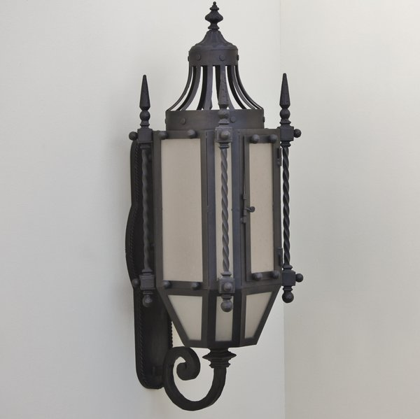 7048 3 hand forged wrought iron gothic medieval style wall 7048 3 hand forged wrought iron gothic medieval style wall outdoor lighting aloadofball Images