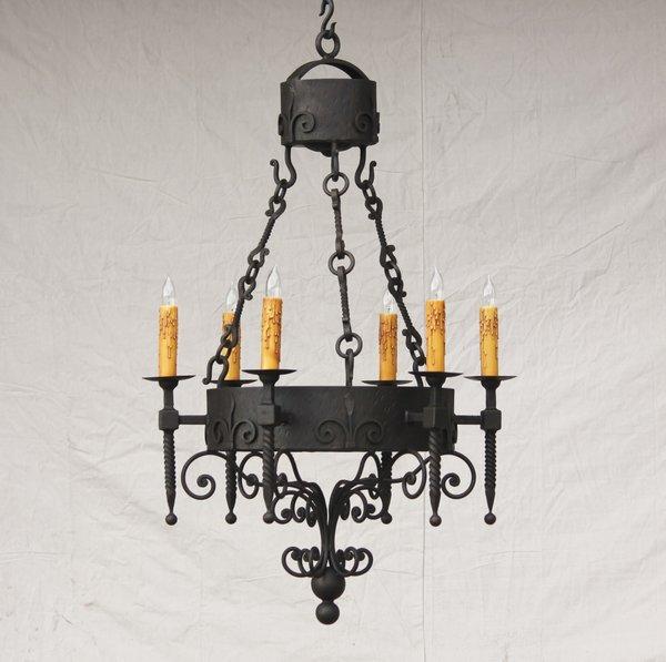 1190 6 authentic spanish style wrought iron chandelier spanish 1190 6 authentic spanish style wrought iron chandelier aloadofball Gallery