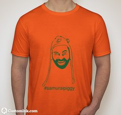 Samurai Piggy Tee (Orange) (Unisex)