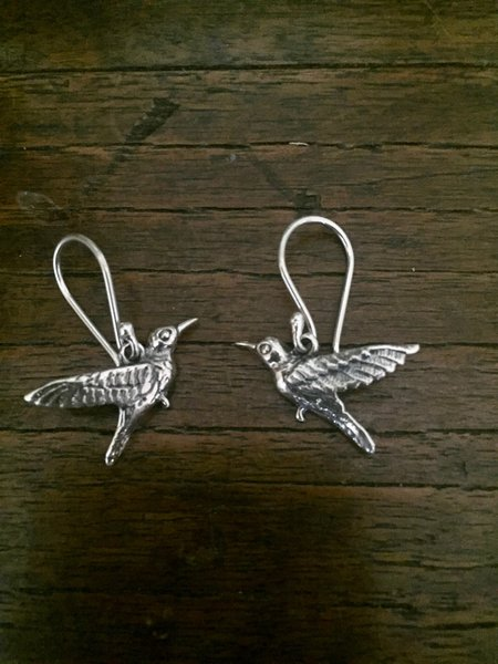 Hummingbird Earrings - Sterling Silver m74yxI9d