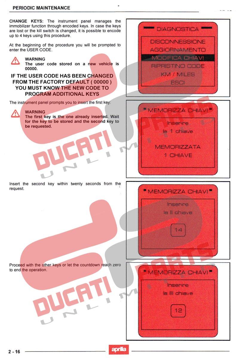 MANUALS & HOW TO'S | Ducati Aprilia BMW KTM Lost Red Key Code Card