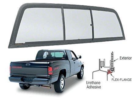 1994 2001 1500 Dodge Ram Crl Back Glass Slider 3 Panel