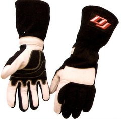 DJ SAFETY GLOVES SFI 3.3.15 THREE LAYER BLACK/TAN S,M,L,XL