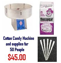 Cotton Candy Rental Package