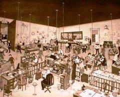 THE NEWS ROOM - ORIGINAL ETCHING