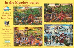 4 - 1000 PIECE PUZZLES IN ONE BOX - FOUR SEASONS COLLECTION