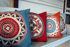 African Circle Cushion cover
