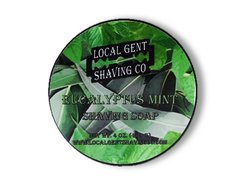 Local Gent Shaving Co. Eucalyptus Mint 4 oz. Shaving Soap