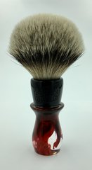 Local Gent Shaving Co. Karloff Shaving Brush Red & Black Marble